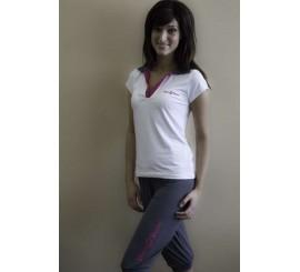 Tričko s krtátkým rukávem a límečkem